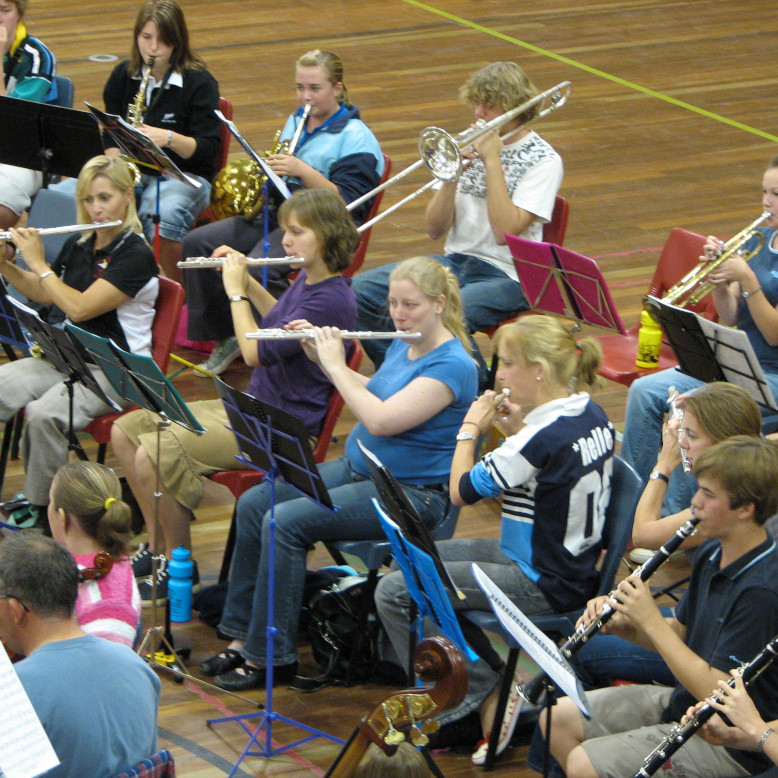 South Burnett Community Orchestra performing on Anzac Day